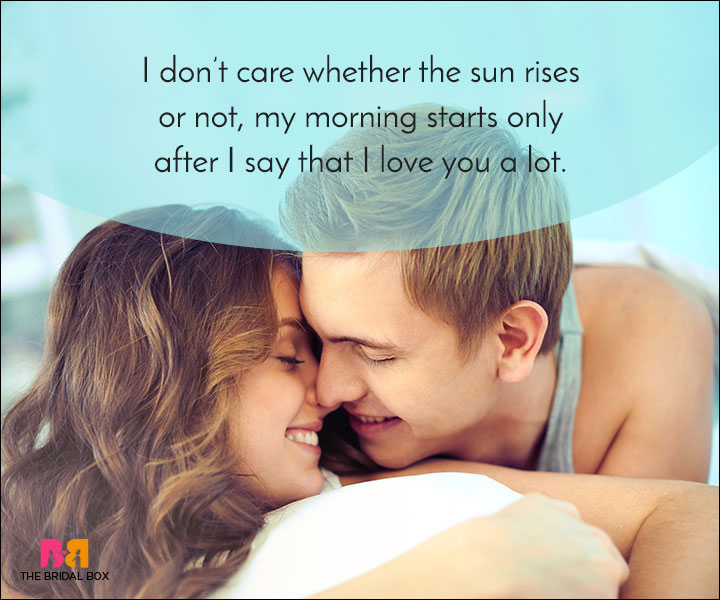 Good Morning Love Quotes - My Morning Starts With You
