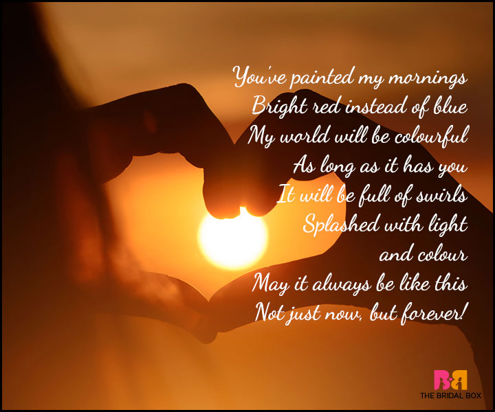Good Morning Love Poems - My World Will Be Colourful