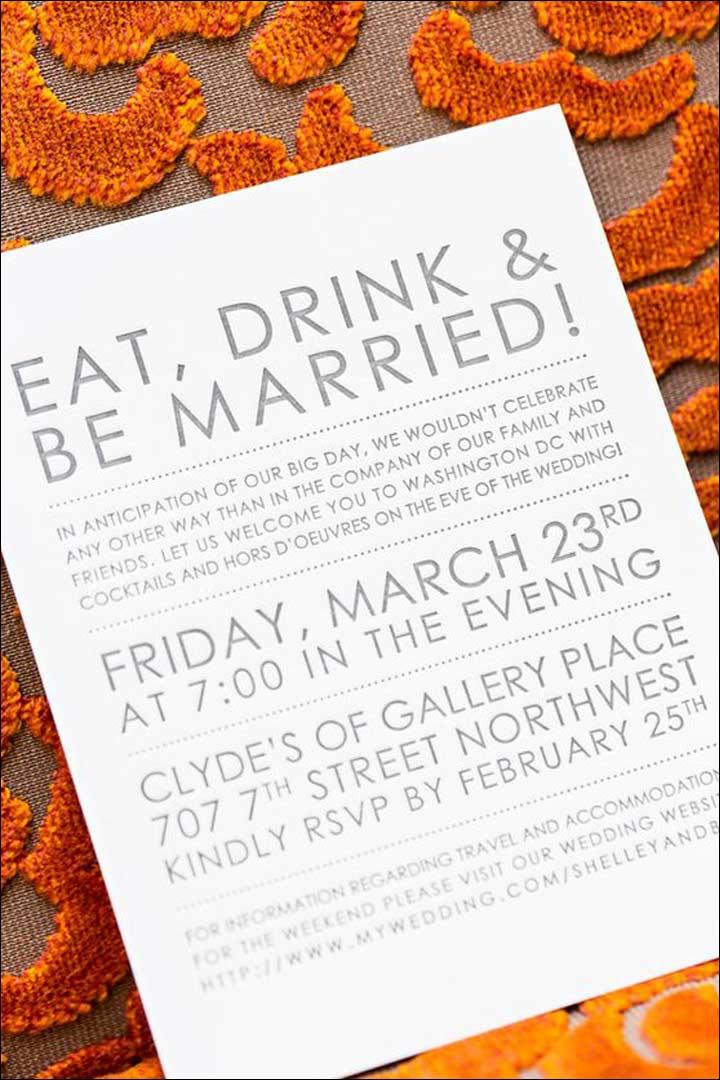Attractive Informal Wedding Invitation Wordings   Greying Together