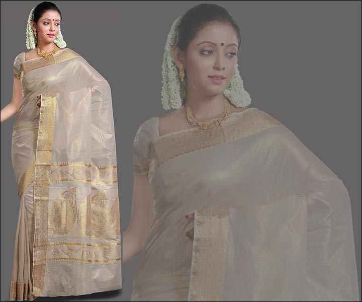 Light-Cream-Kasavu-Saree