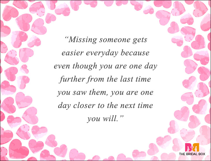 Long Distance Love Quotes - One Day Closer