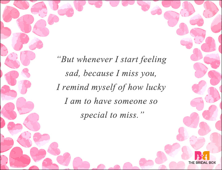 Long Distance Love Quotes - Someone Special To Miss