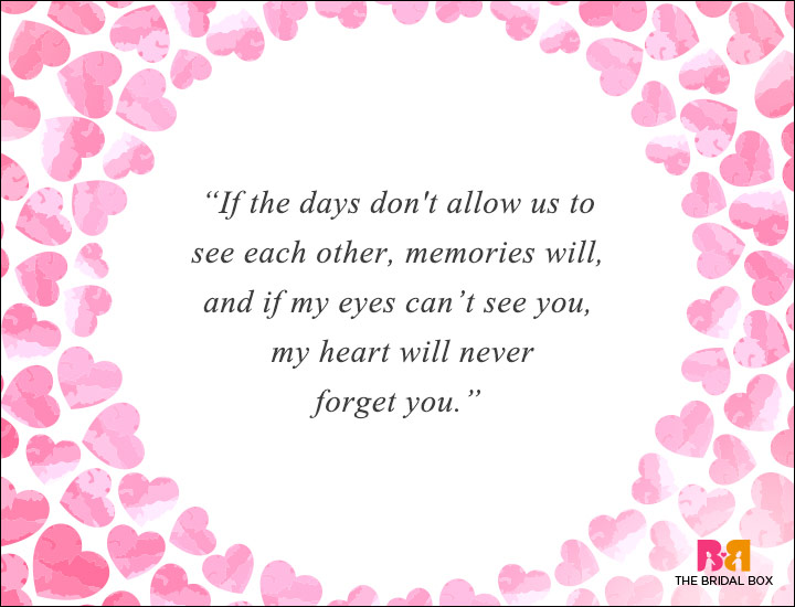 Long Distance Love Quotes - If My Eyes Cant See You