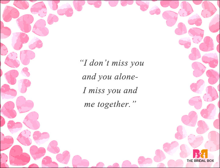 Long Distance Love Quotes - I Miss Us