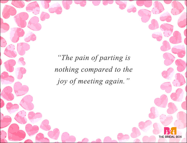 Long Distance Love Quotes - Of Joys And Pains