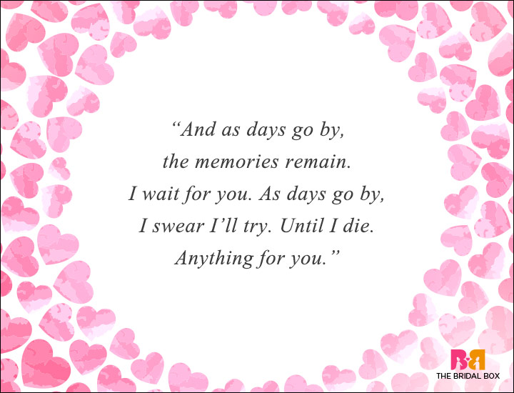 Long Distance Love Quotes - As The Days Go By