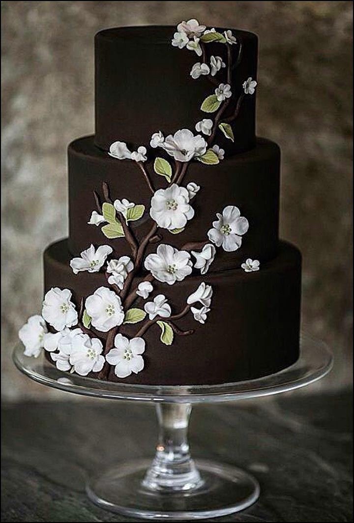 brown and white wedding cake chocolate wedding cakes that are simply sinful 12189