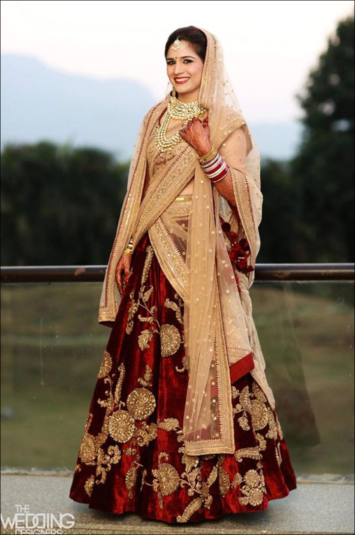 Old-And-New-mix-velvet-lehenga