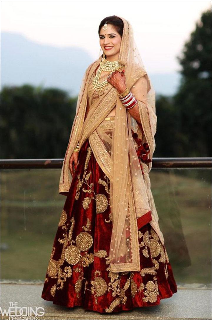 Velvet Bridal Lehenga Cholis 10 Magnificently Royal Designs