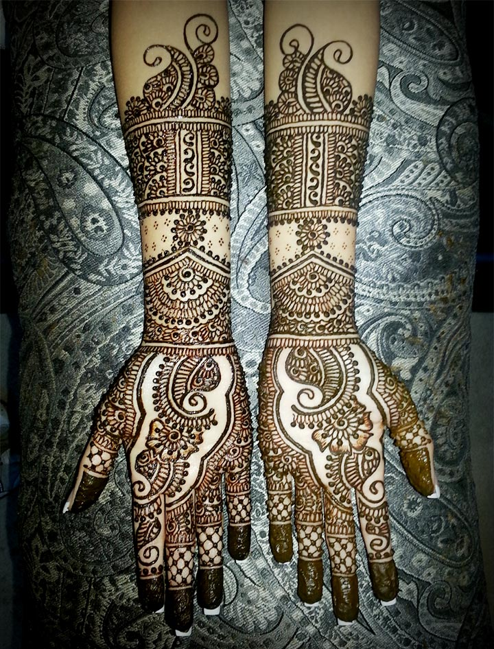 Marathi Mehndi Design - Open And Free Flow