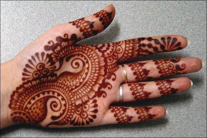 Punjabi Mehndi Designs - Paisley Design