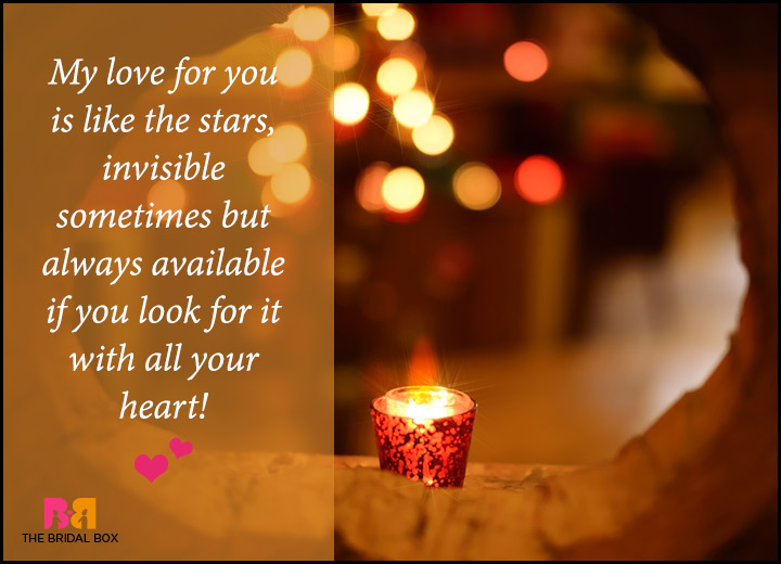 Romantic Love Messages For Him - The Stars
