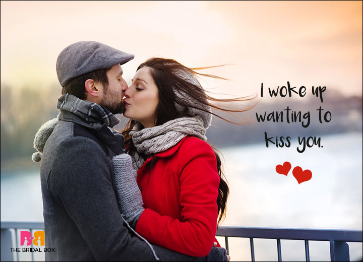 Romantic SMS For Him - Wake Me Up With Kisses