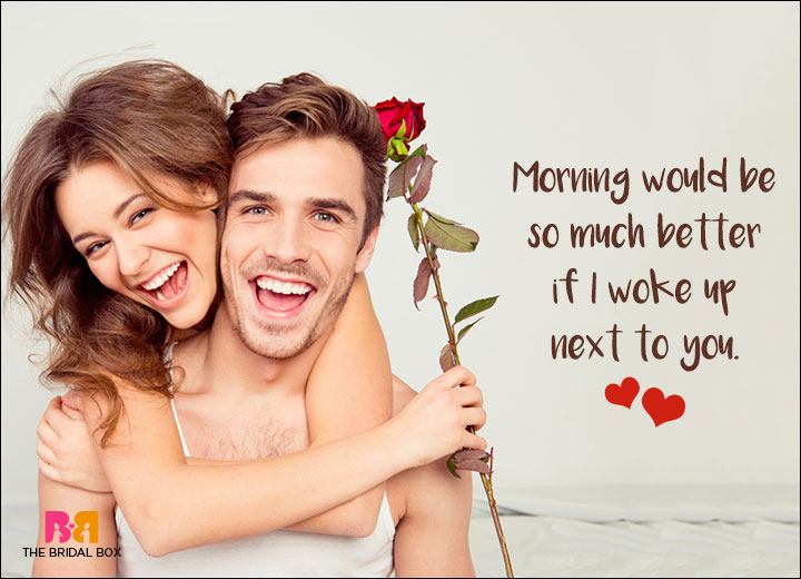 Romantic SMS For Him - Mornings Would Be Better