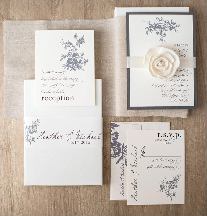 Rustic Wedding Invitations - The Rustic Ivory Invite