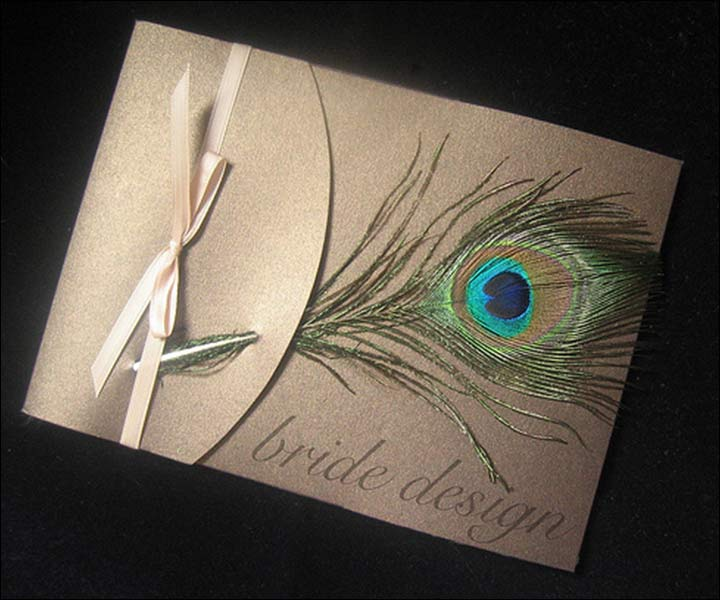 9 majestic peacock wedding invitations that are sure to impress, Wedding invitations