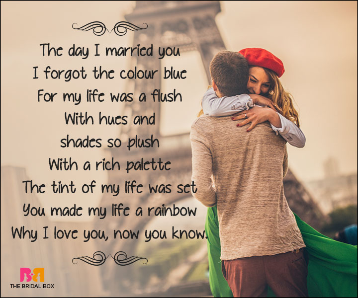 Short Love Poems For Husband - The Day I Married You