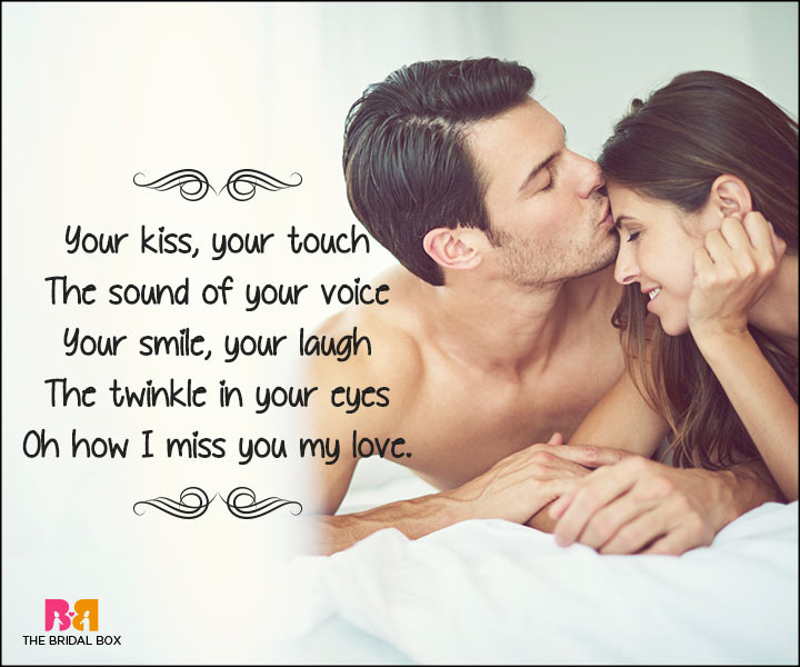 Short Love Poems For Husband - I Miss You