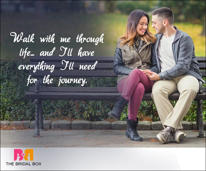 Short Love Quotes For Him - Walk With Me