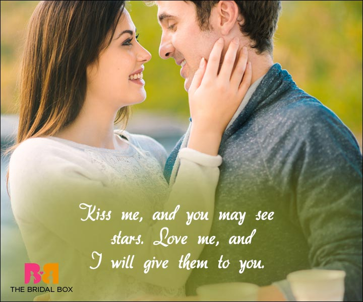 Short Love Quotes For Him - Kiss Me