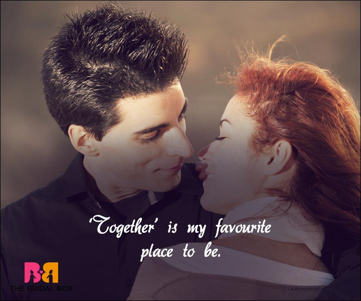 Short Love Quotes For Him - Together