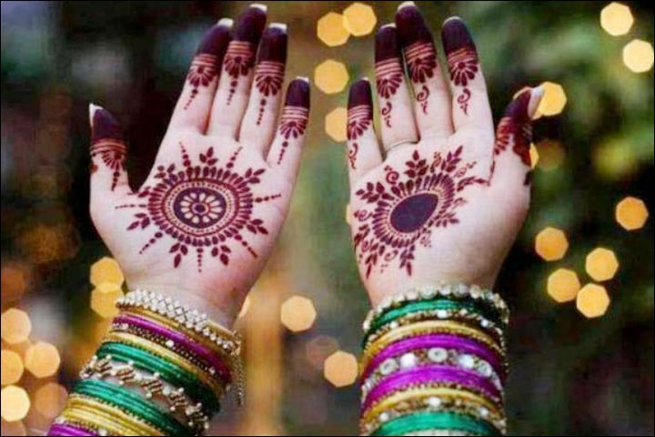 Round Mehndi Designs - Simple Traditional Round Art
