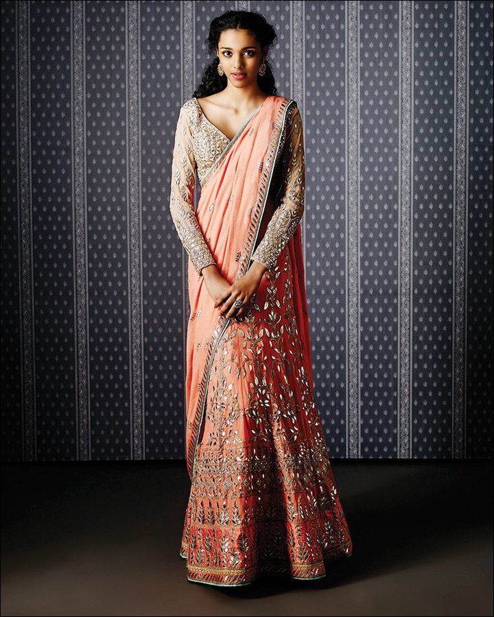 Soft-Peach-Lehenga-Saree