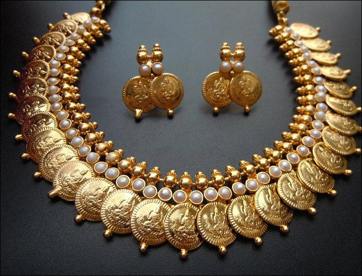 South Indian Bridal Jewellery Sets - South India Bridal Kasi Necklace Set