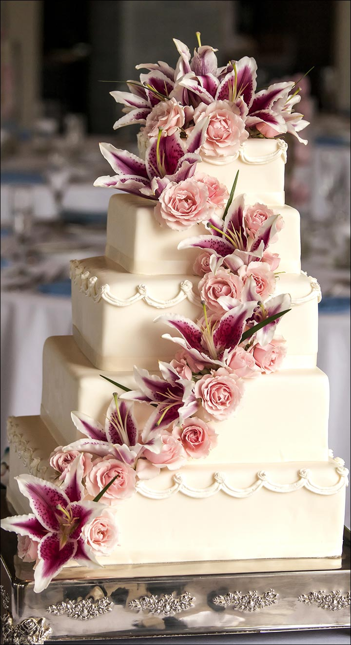 Square Treat wedding cake