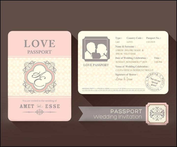 Passport Wedding Invitations - The Contemporary Card
