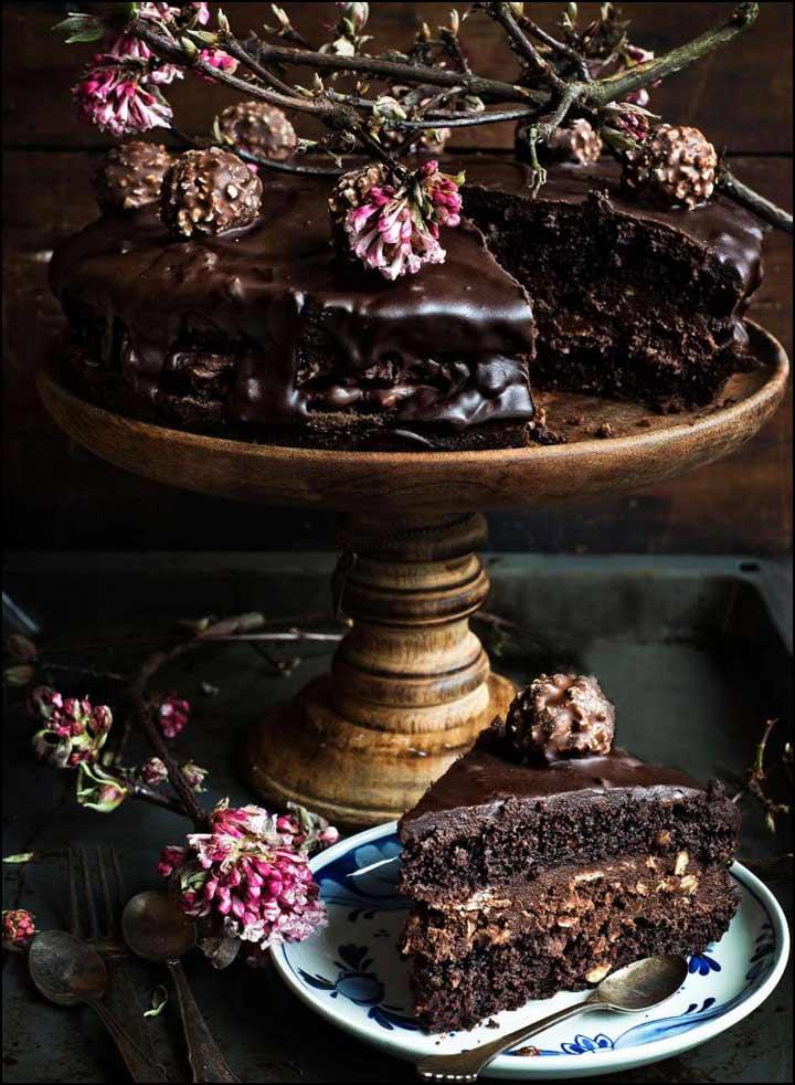 Chocolate Wedding Cake - The Hot Mess