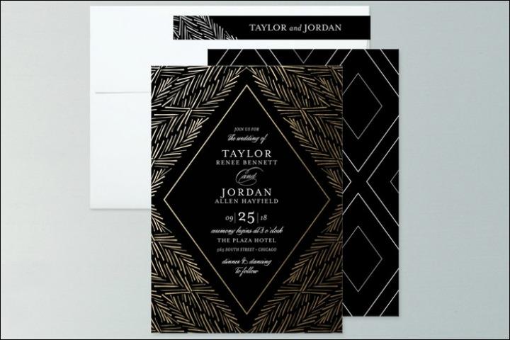 Foil Wedding Invitations - The Noir Look