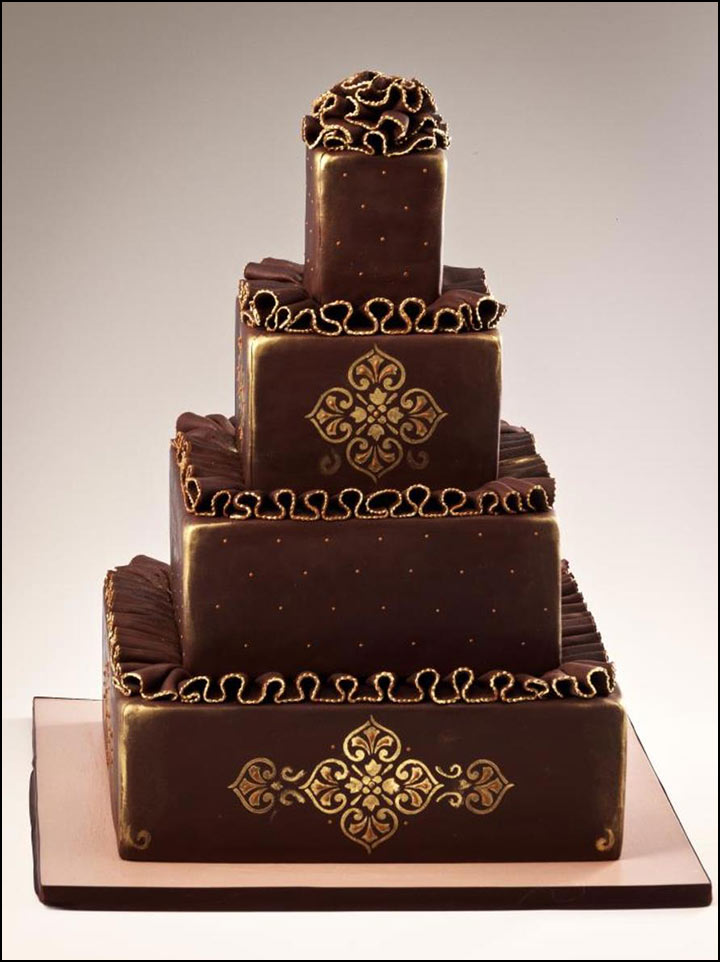 dark chocolate wedding cakes chocolate wedding cakes that are simply sinful 13339
