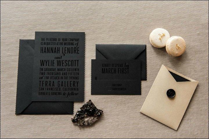 Foil Wedding Invitations - The Urban Look