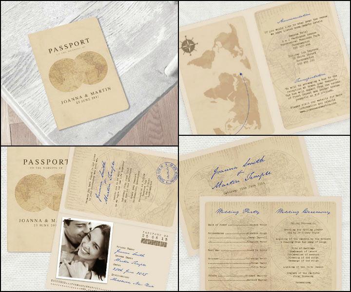 Passport Wedding Invitations - The Well Travelled Invite
