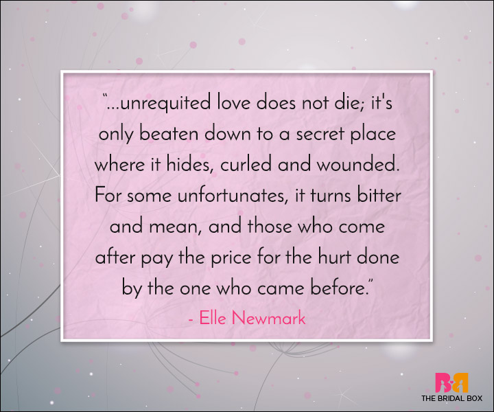 Unrequited Love Quotes - Once Bitten Twice Shy