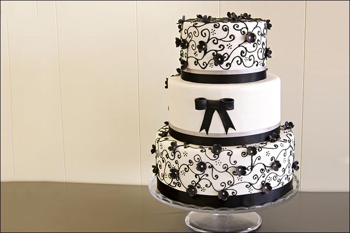 A Vanilla And Fondant Wedding Cake
