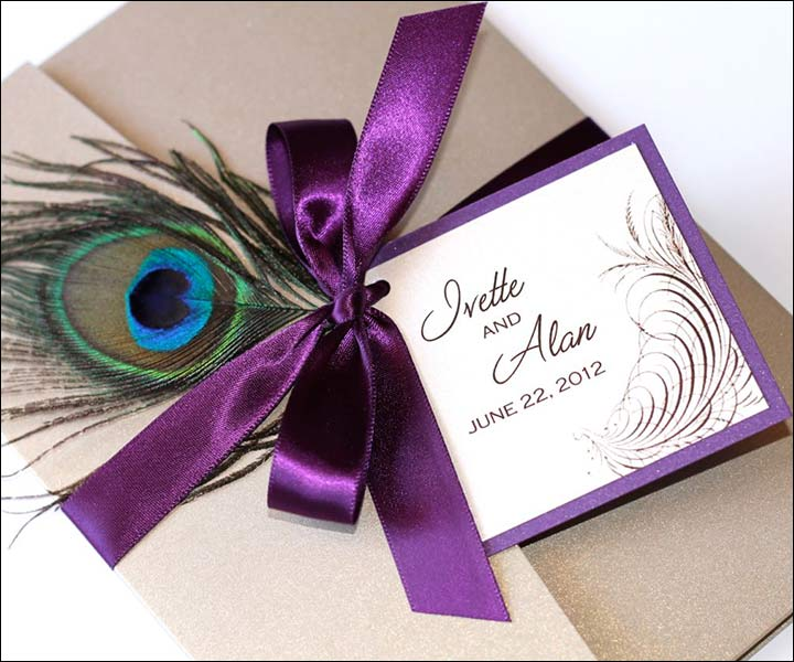 Peacock Wedding Invitations: 9 Majestic Peacock Wedding Invitations That Are Sure To