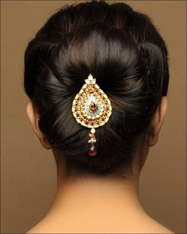 Simple Juda Hairstyle For Wedding: 10 Mesmerizing Wedding Hair Accessories You Want And Need