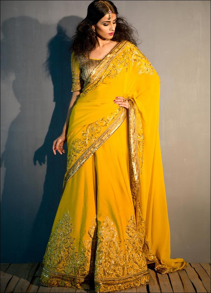 Yellow-Lehenga-Saree