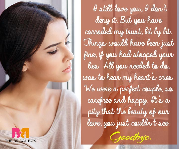 Goodbye Quotes For Her - A Pity