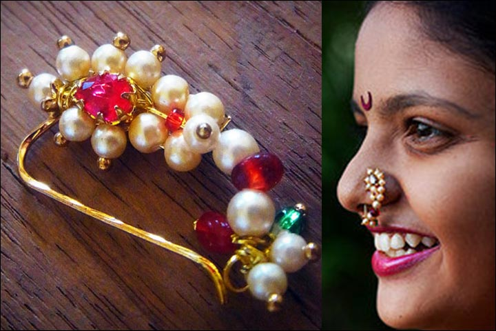 Maharashtrian nose pin designs