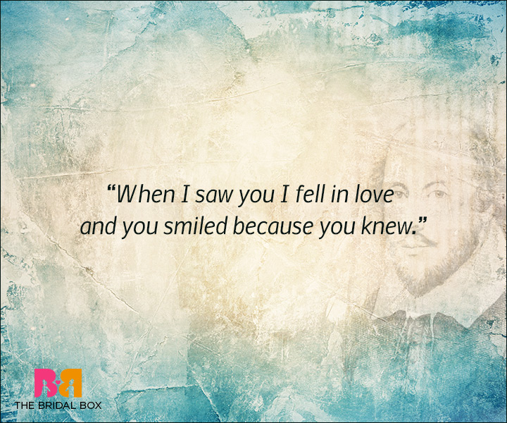 Shakespeare Love Quotes - When I Saw You