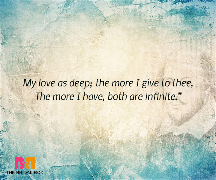 Shakespeare Love Quotes - My Love Is Deep