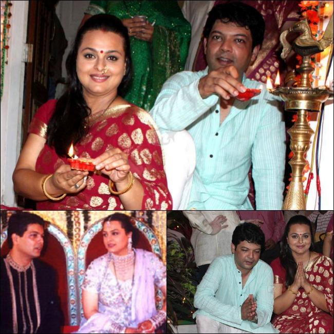 Shilpa Shirodkar And Apresh Ranjit At Their Wedding