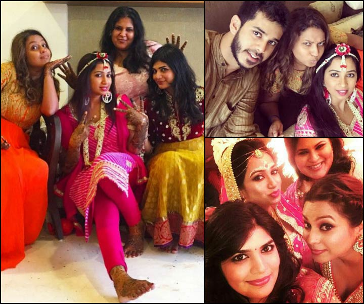 Shreya Ghoshal With Friends And Family At Her Pre Wedding Celebrations