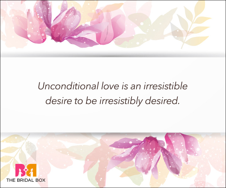 giving unconditional love