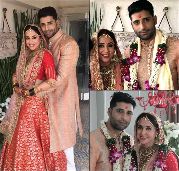 Urmila Matondkar And Mohsin Akhtar Mir At Their Wedding Pictures
