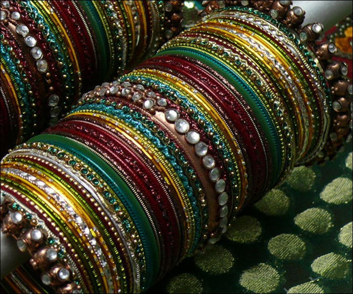 Bridal Bangles - A Colour Combination Set