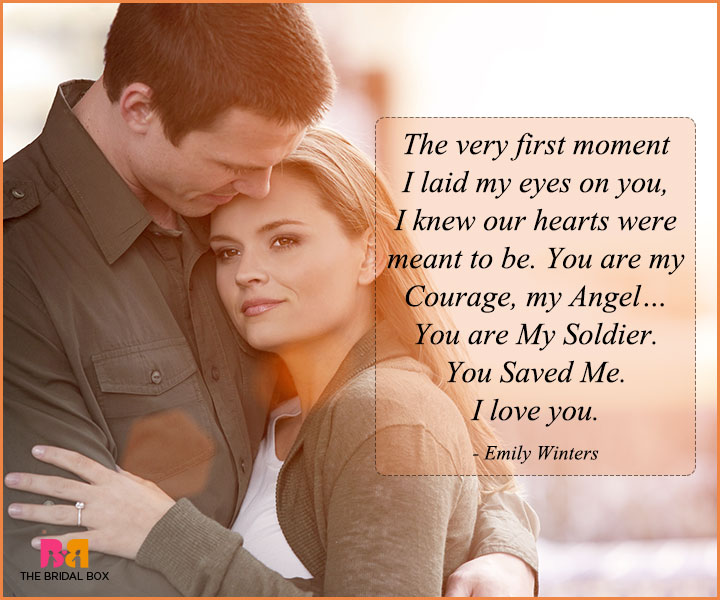Love Quotes For Husband On Anniversary - The Very First Moment